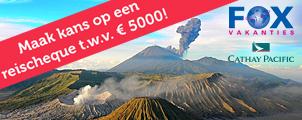 Boek een reis naar Indonesië en maak kans op een reischeque van €5000!