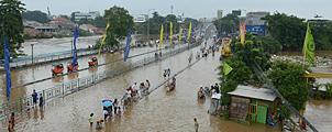 Zware overstromingen teisteren Jakarta
