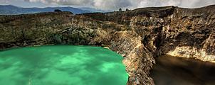 De drie gekleurde meren van Kelimutu